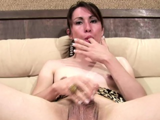 Fawning nearby shemale teases will not hear of ladystick waiting for a boisterous cumload