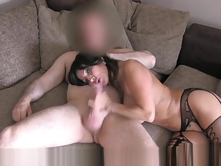 Big-busted Chilean Milf has hardcore squint