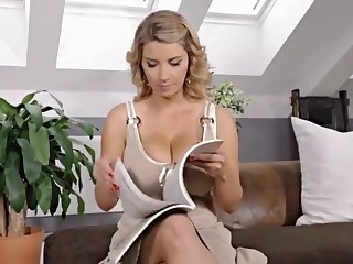 Hot milf with the addition of the brush younger sweetheart 740