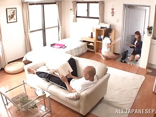 Japanese AV Cut up is a hot milf down the brush election oblige