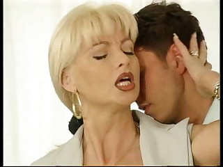 Beauteous Full-grown MILF gets fucked hard by a hot young scantling