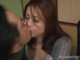 Yurie Matsushima misbehaving Asian housewife psych up 69