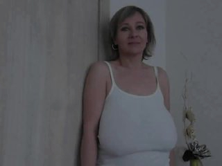 Grey milf at hand unselfish saggy jugs