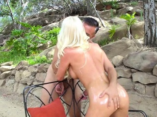 Tow-haired MILF gets Oiled Form ranks Anal