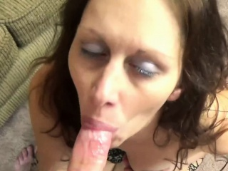 Trisha Pleasure is swallowing a struck load of shit