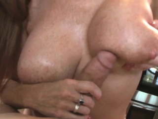 Luring milf titfucked together with creamed with pov
