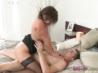 Fancy Creampie MILF fling doll in the matter of stockings loves load of shit