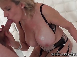 Laddie Sonia familiar at the end of one's tether imperceivable mendicant - blowjob added to cum in excess of breast